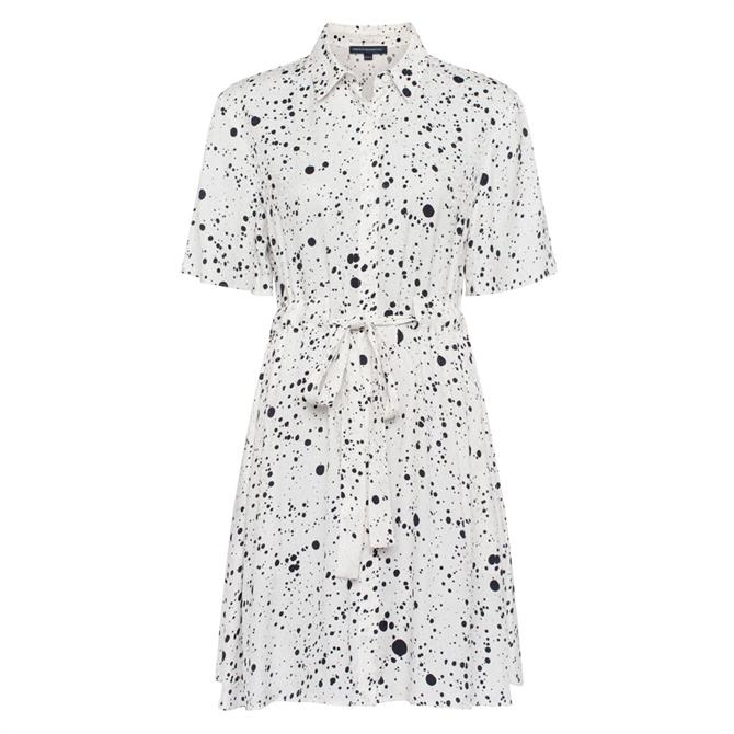 French Connection Droplet Drape Shirt Dress