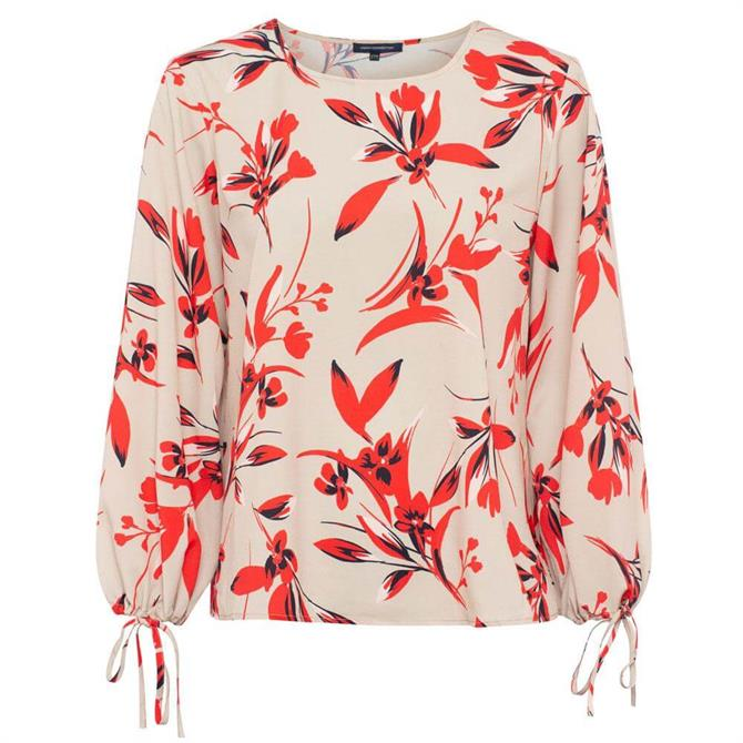 French Connection Eliva Crepe Light Floral Print Top