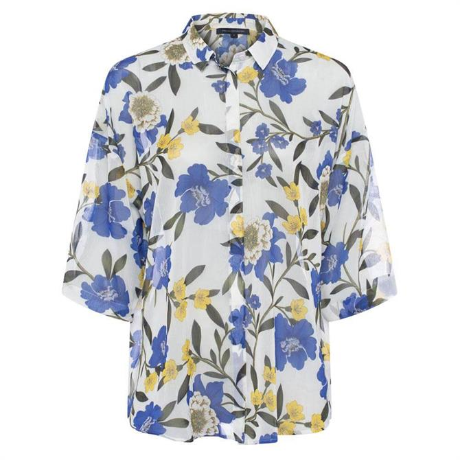 French Connection Eloise Crinkle Floral Print Shirt