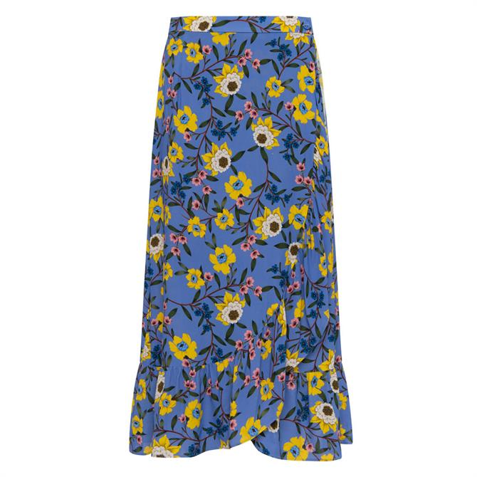 French Connection Eloise Ruffle Midi Skirt