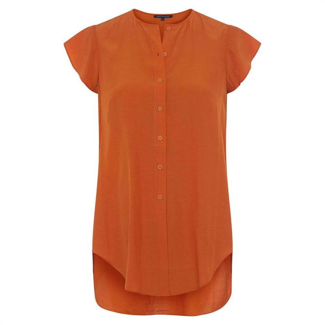 French Connection Ery Crepe Short Sleeved Shirt