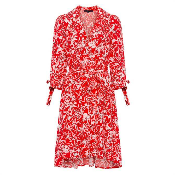 French Connection Fayola Drape Shirt Dress
