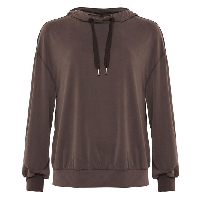 French Connection Renya Cupro Jersey Hoodie Top