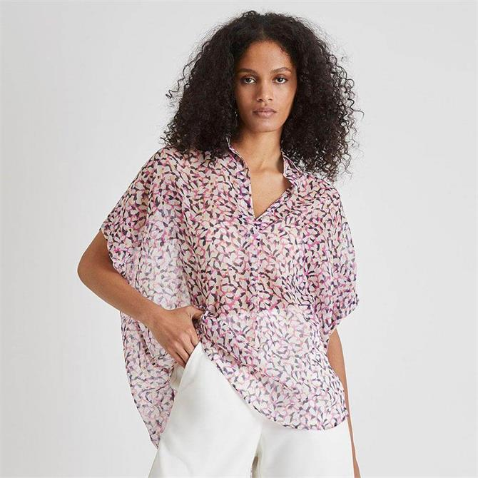 French Connection Ekeze Crinkle Popover Shirt