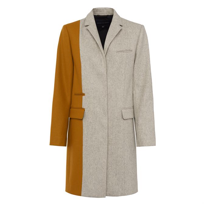 French Connection Carmelita Colour Block Wool Coat