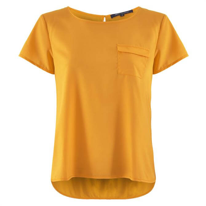 French Connection Abena Light Round Neck Top