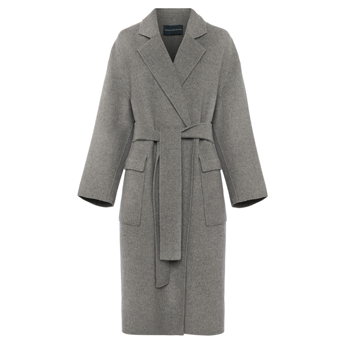 French Connection Agatima Wool Belted Coat