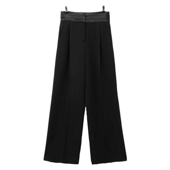 French Connection Amato Suiting High Waist Wide Leg Trousers