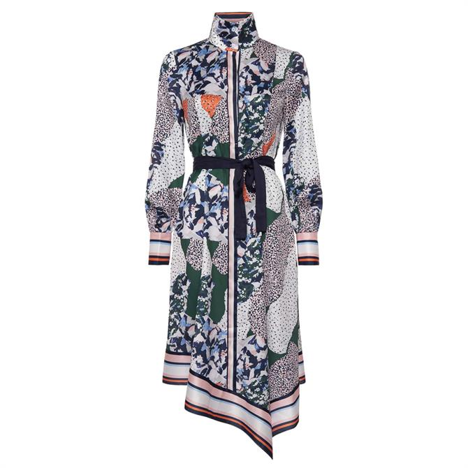 French Connection Asha Scarf Print Handkerchief Dress