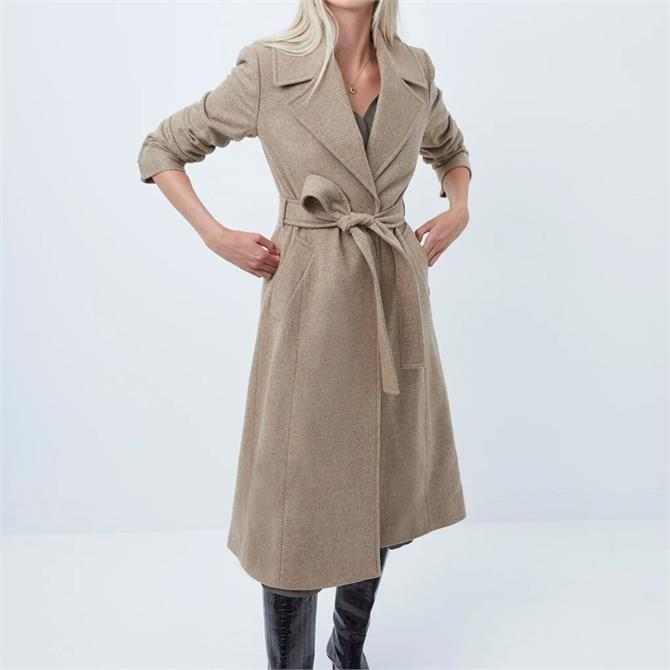 French Connection Balia Tweed Belted Coat