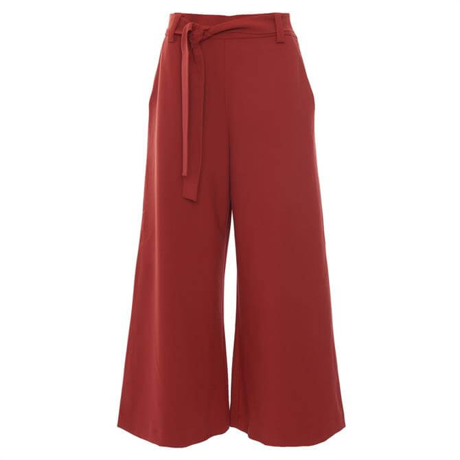 French Connection Boh Whisper Cropped Flare Trousers