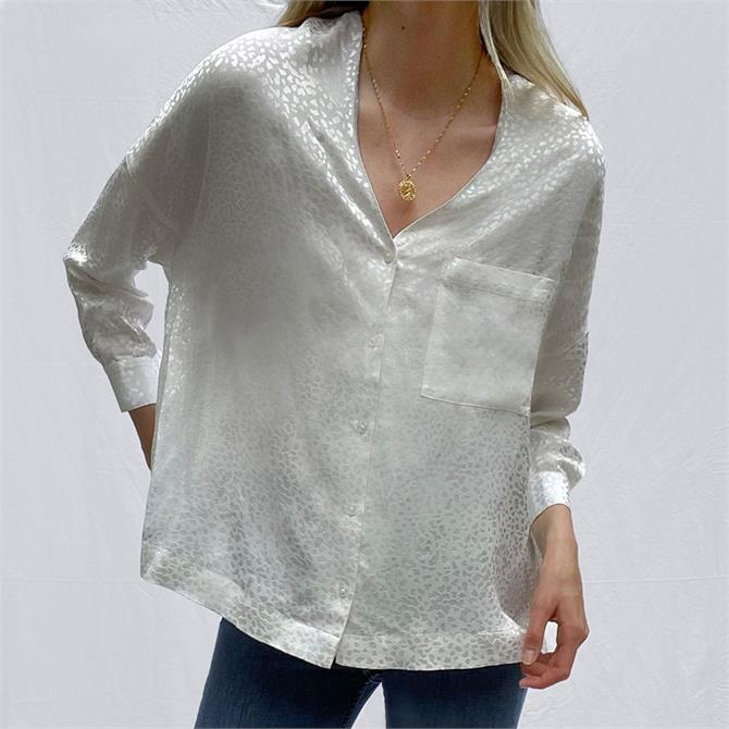 French Connection Chofa Drape V-Neck Shirt