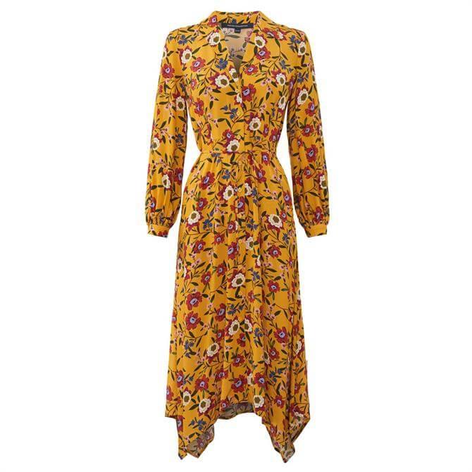 French Connection Eloise Doto Drape Shirt Dress