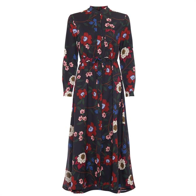French Connection Eloise Drape Midi Shirt Dress