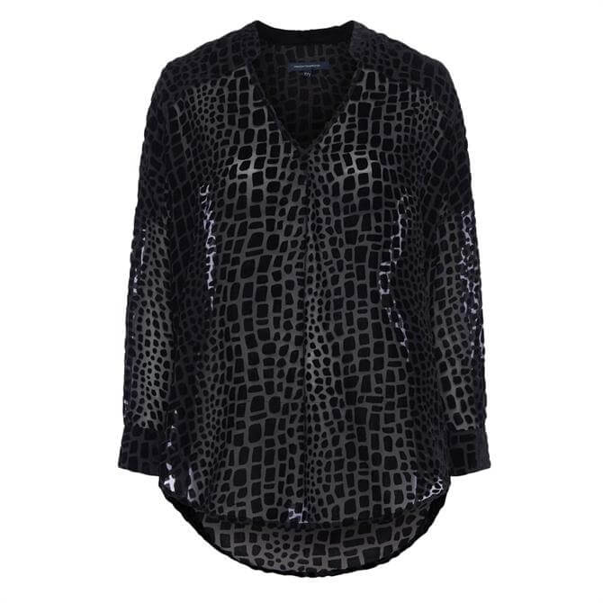 French Connection Ilka Devore Pop Over Shirt