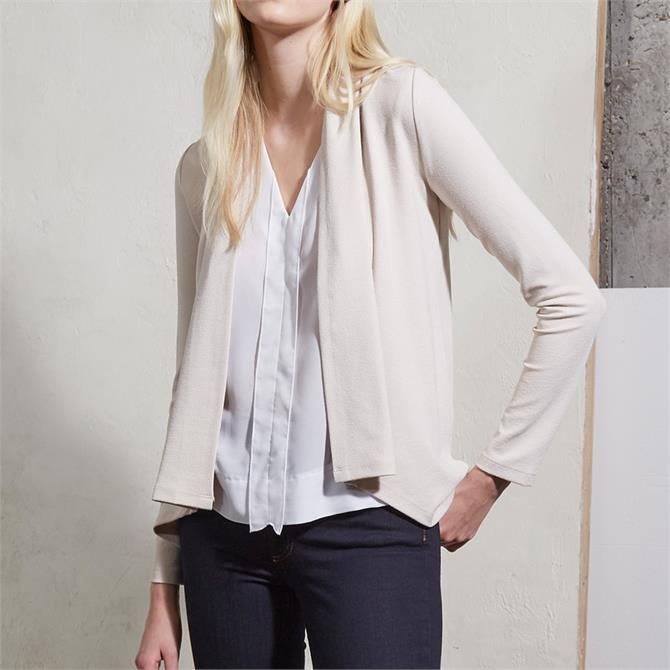 French Connection Josie Jersey Drape Front Jacket
