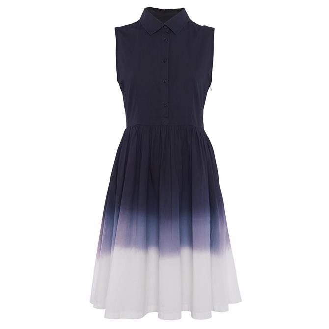 French Connection Sadiya Dip Dye Sleeveless Blouse Dress