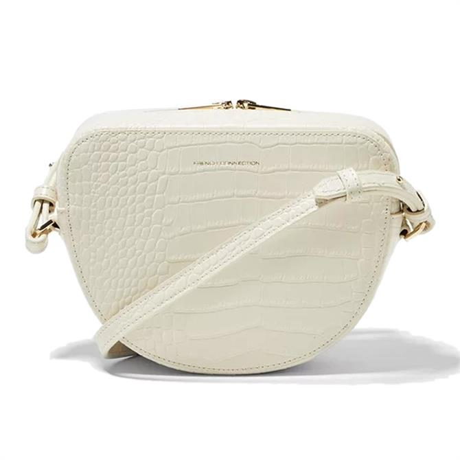 French Connection Tallin Half Moon Recycled Croc Leather Bag