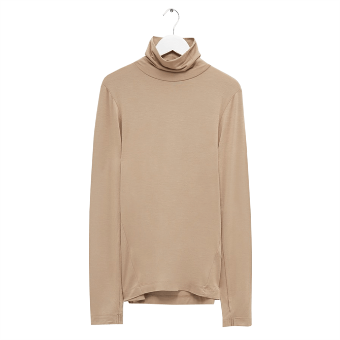 French Connection Venetia Jersey Roll Neck Top