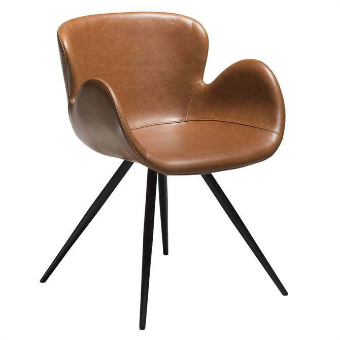 Gaia Vintage Light Brown Art Leather Dining Chair