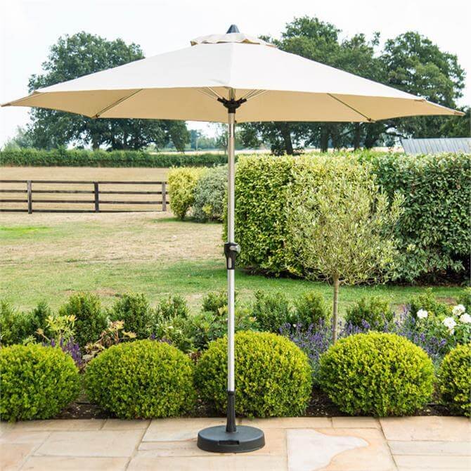 Parasol With Base 3m Beige