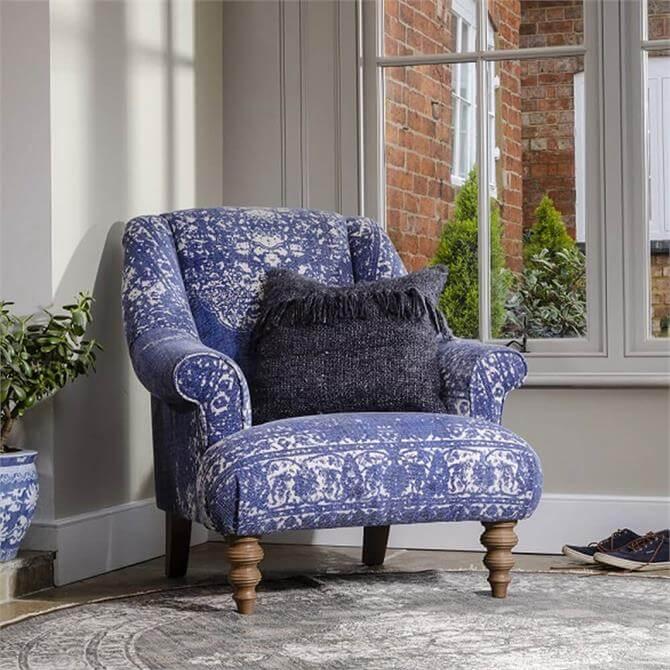 Tetrad Jacaranda Armchair in Option A Fabrics