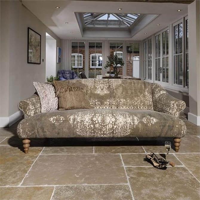 Tetrad Jacaranda Midi Sofa In Option A Fabrics Bagru Khaki