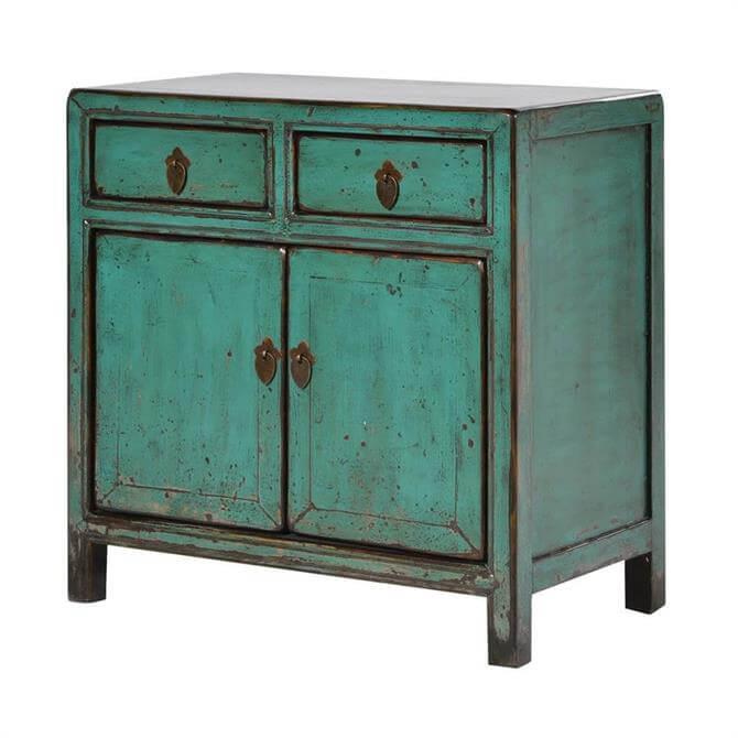 Oriental Turquoise Small Two Door Cupboard