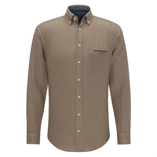 Fynch Hatton Garment Dyed Linen Shirt