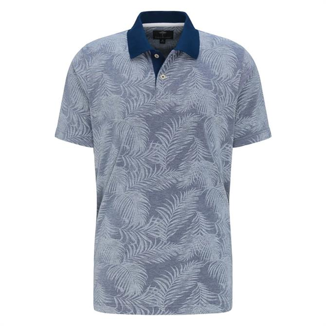 Fynch Hatton Palm Print Polo Shirt