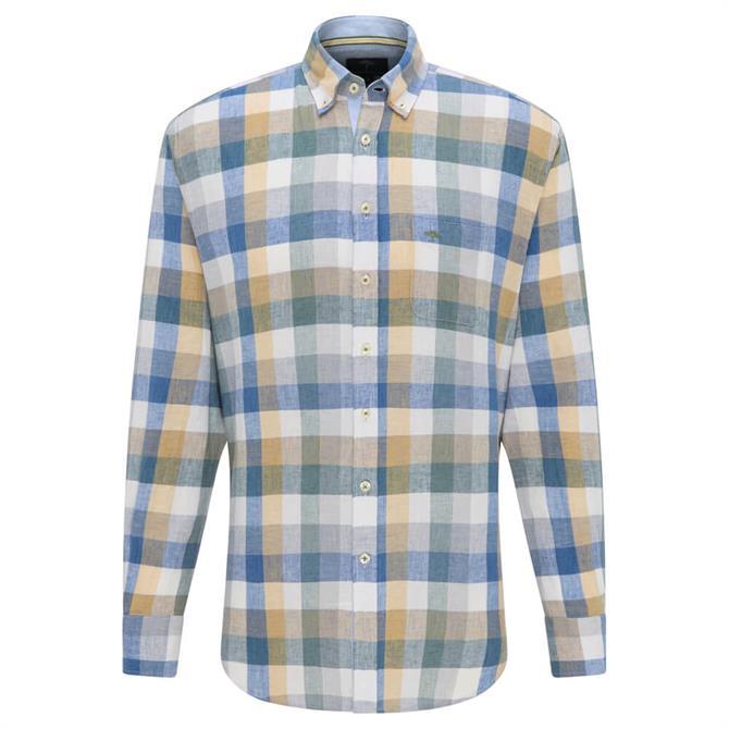 Fynch Hatton Linen Blend Summer Check Shirt