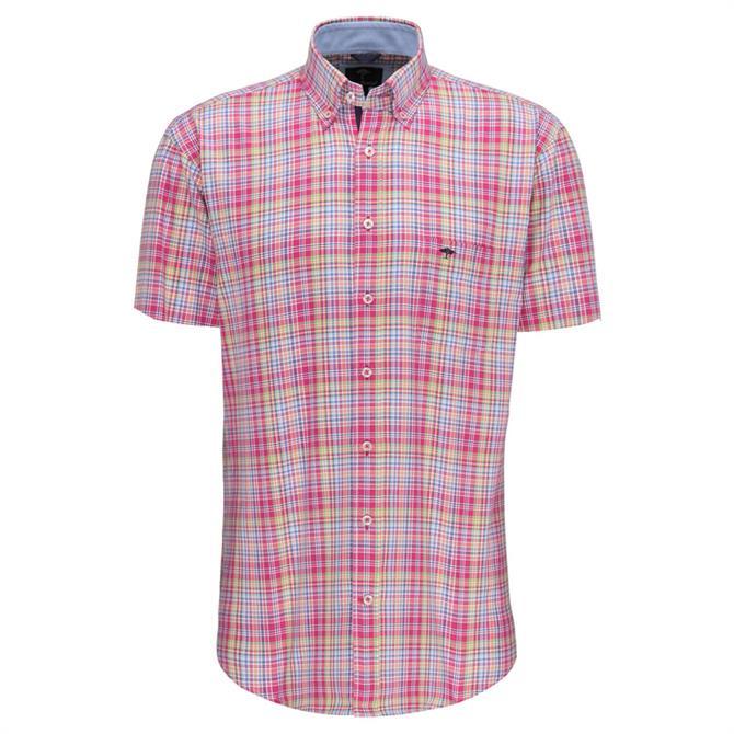 Fynch Hatton Soft Oxford Story Short Sleeve Shirt