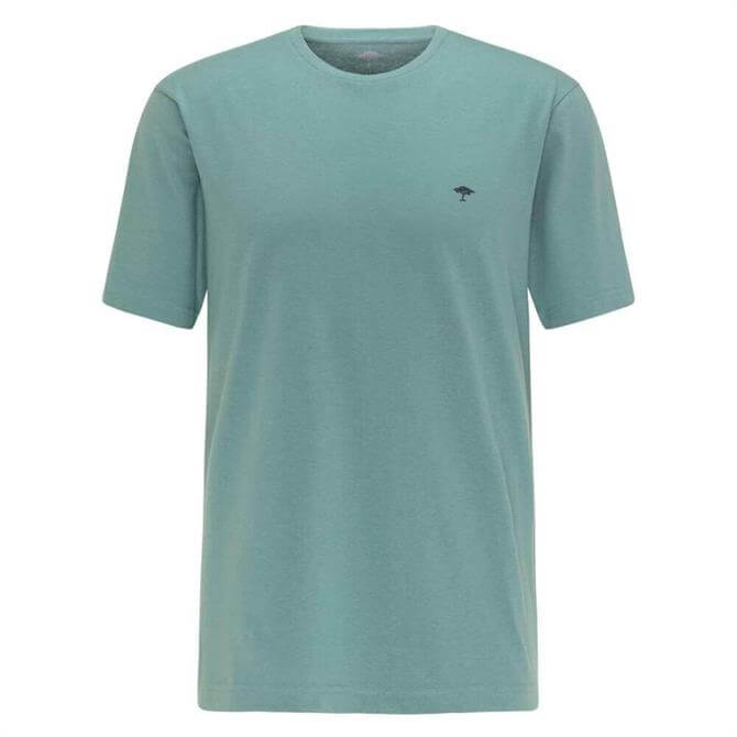 Fynch-Hatton Green Casual Fit Cotton T-Shirt