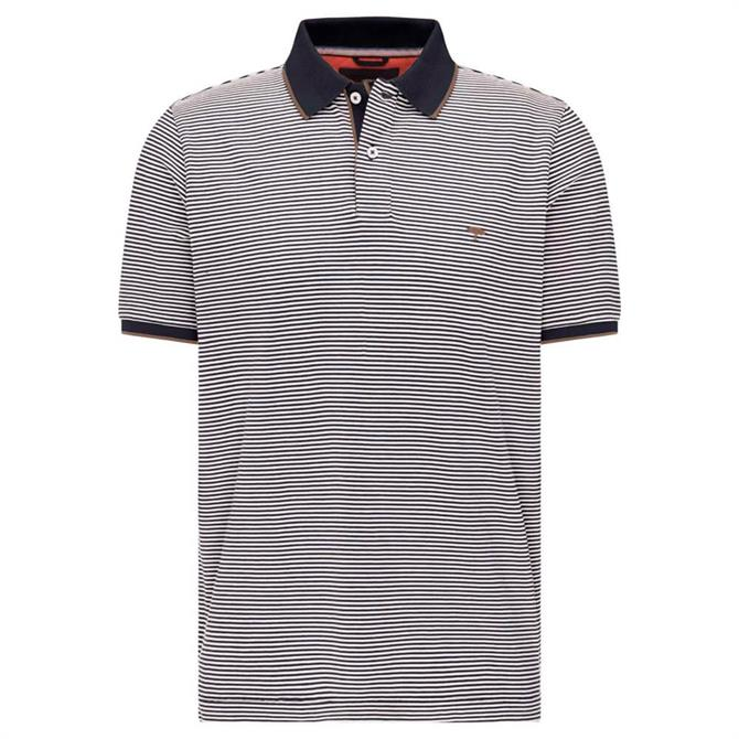 Fynch-Hatton Casual Fit Fine Stripe Polo Shirt