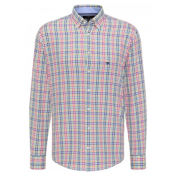 Fynch-Hatton Casual Fit Plaid Shirt