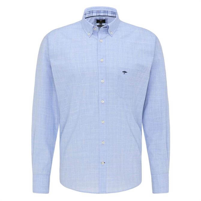 Fynch-Hatton Patterned Casual Fit Button-Down Shirt