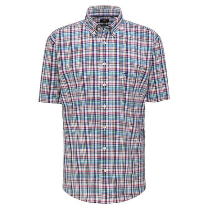 Fynch-Hatton Pure Cotton Casual Fit Fine Check Shirt
