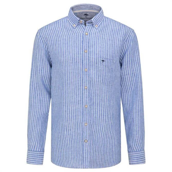 Fynch-Hatton Casual Fit Striped Linen Shirt