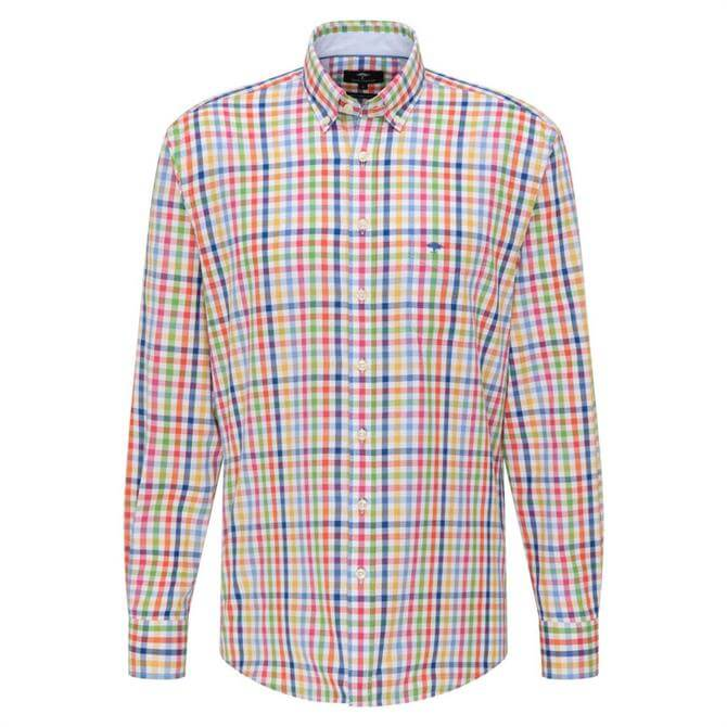 Fynch-Hatton Patterned Casual Fit Cotton Shirt