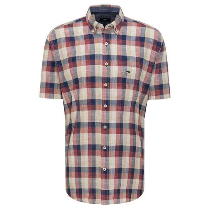 Fynch-Hatton Pure Cotton Casual Fit Checked Shirt