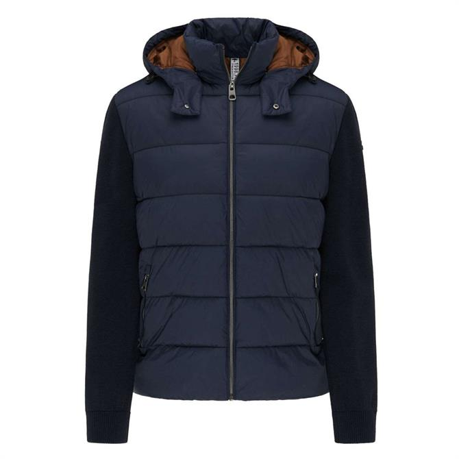 Fynch Hatton Navy Downtouch Hybrid Lightweight Jacket