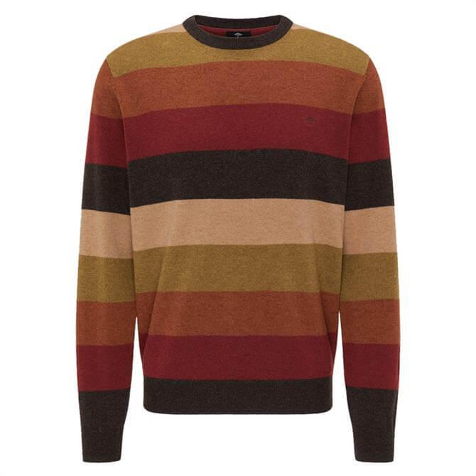 Fynch-Hatton Multicoloured Stripe Crew Neck Jumper