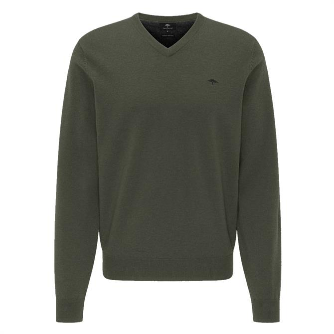 Fynch-Hatton Premium Lambswool V-Neck Jumper