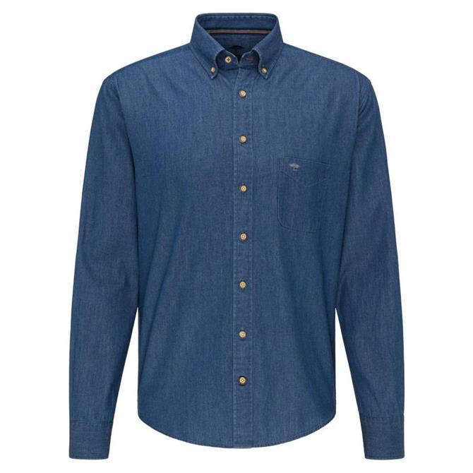 Fynch-Hatton Premium Washed Cotton Denim Shirt