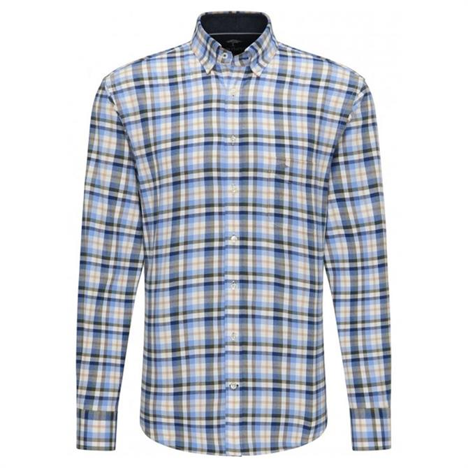 Fynch Hatton Premium Soft Flannel Check Shirt