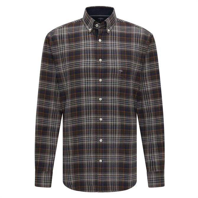 Fynch-Hatton Checked Casual Fit Premium Shirt