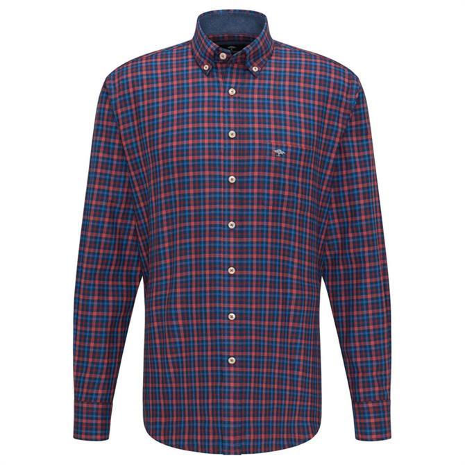 Fynch Hatton Flannel Combi Check Shirt