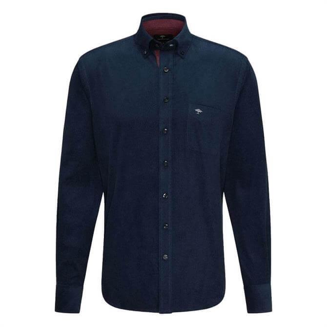 Fynch-Hatton Casual Fit Navy Corduroy Shirt