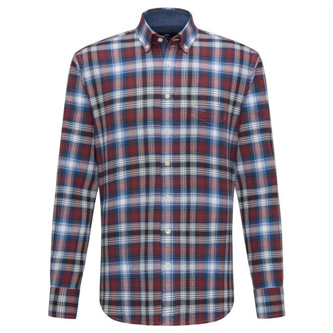 Fynch Hatton Big Flannel Fond Check Shirt