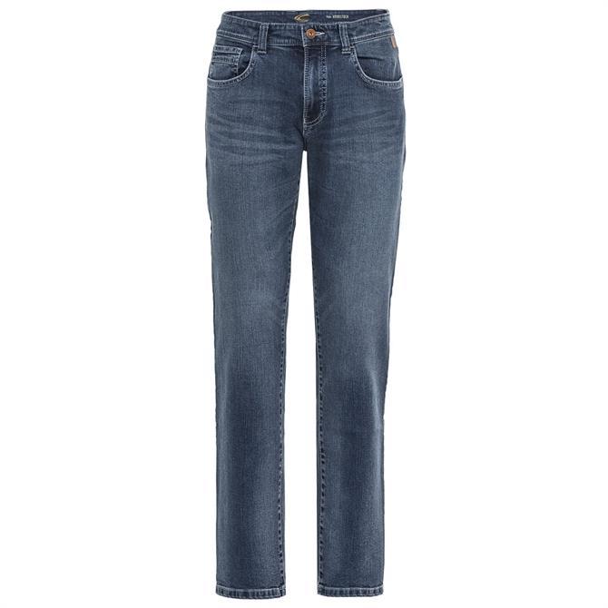 Camel Active Stone Blue Woodstock 5 Pocket Jeans